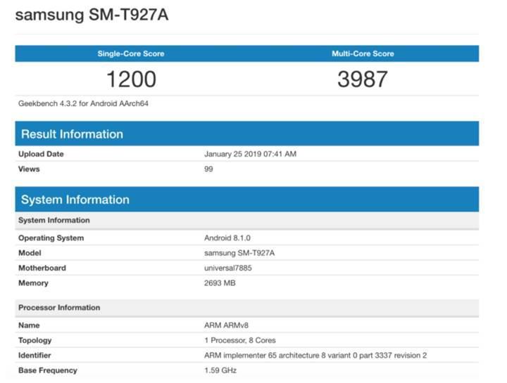 Samsung Galaxy View 2 detaylanıyor