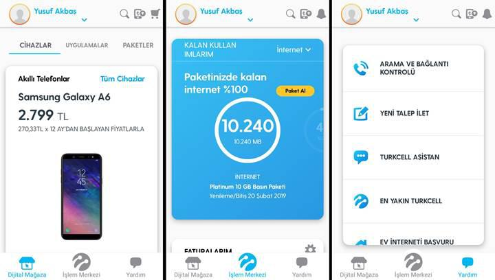 Turkcell Hesabım uygulaması yenilendi 'Dijital Operatör' oldu