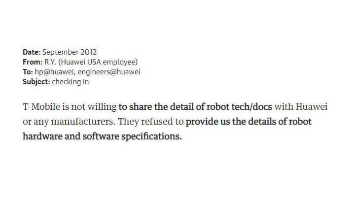 Huawei'nin planladığı robot casusluğunun e-posta yazışmaları ortaya çıktı