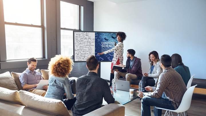 Dell çalışma ortamları için 75 inçlik dokunmatik monitörünü duyurdu