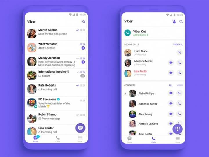Viber 10 yeni arayüzü ile yayınlandı