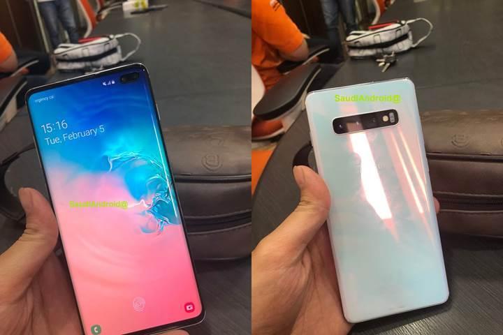 Yeni Galaxy S10 fotoğrafı ekrandan parmak izi okuma özelliğini onayladı