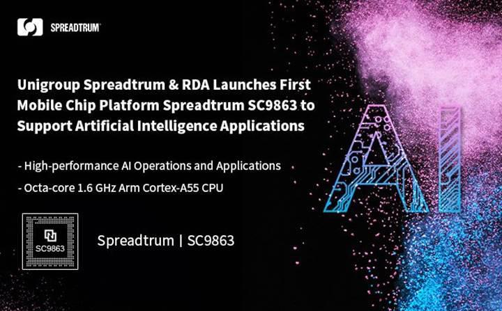 Yapay zekâ destekli Spreadtrum SC9863 yonga seti sahneye çıkıyor