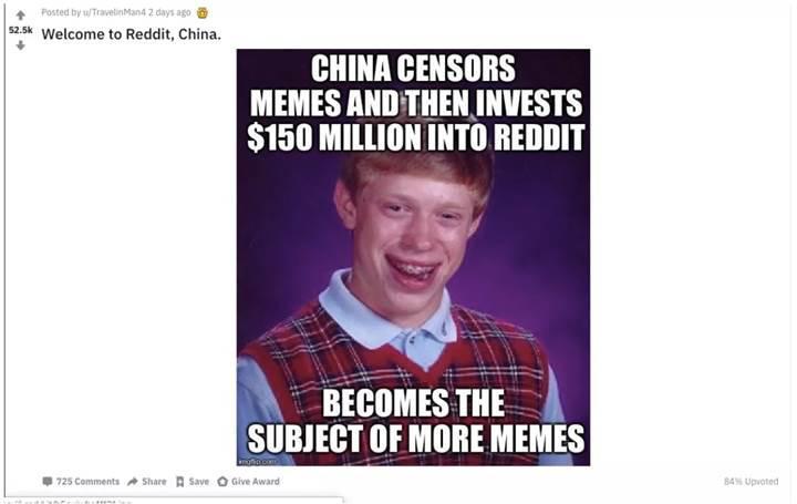 Tencent'den yatırım alan Reddit kullanıcıları kızgın