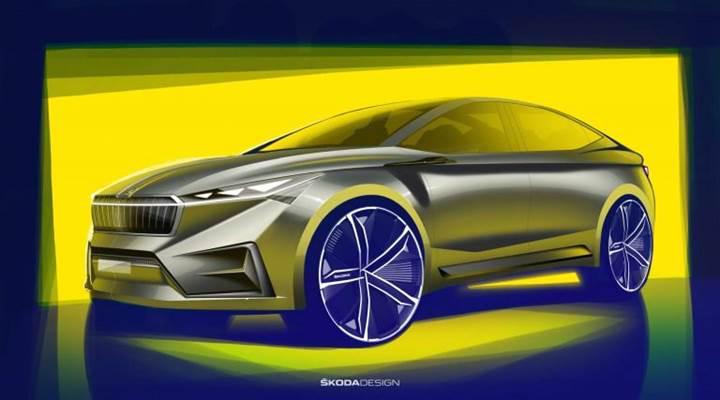 Skoda'nın elektrikli Vision iV konsepti ortaya çıktı