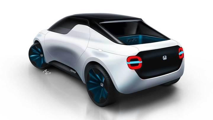 Honda'dan hem coupe hem pickup olabilen elektrikli araç konsepti