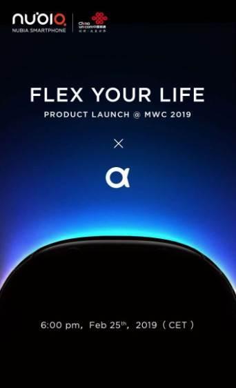 Nubia, Mobil Dünya Kongresi'nde esnek ekranlı bir cihaz tanıtacak