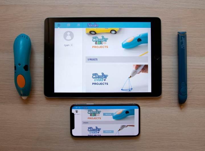 Ekranı tuval gibi kullanabileceğiniz 3Doodler uygulaması yayınlandı