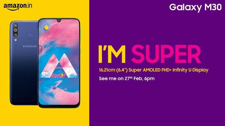 Samsung Galaxy M30 modeli 27 Şubat tarihinde tanıtılacak