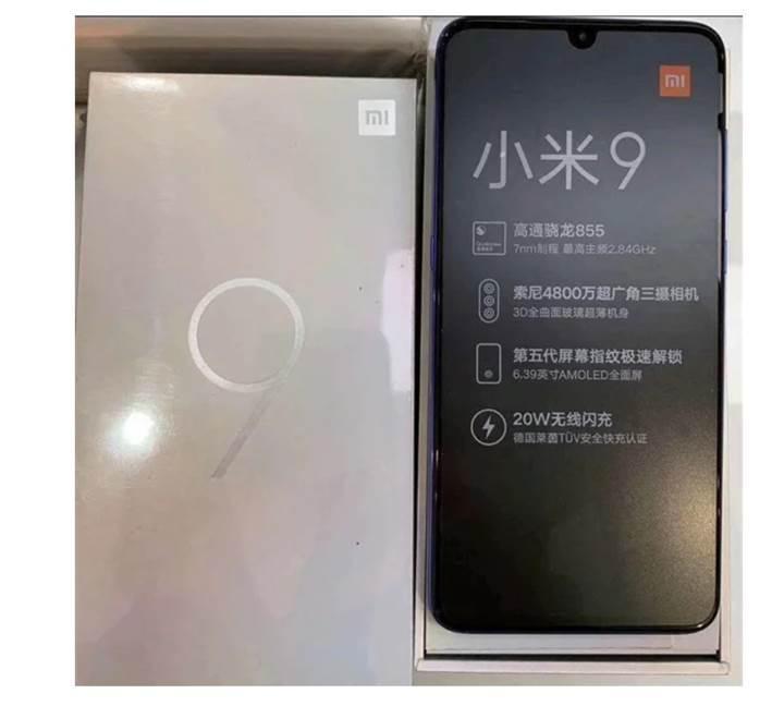 Xiaomi Mi 9 kutu görseli sızdırıldı
