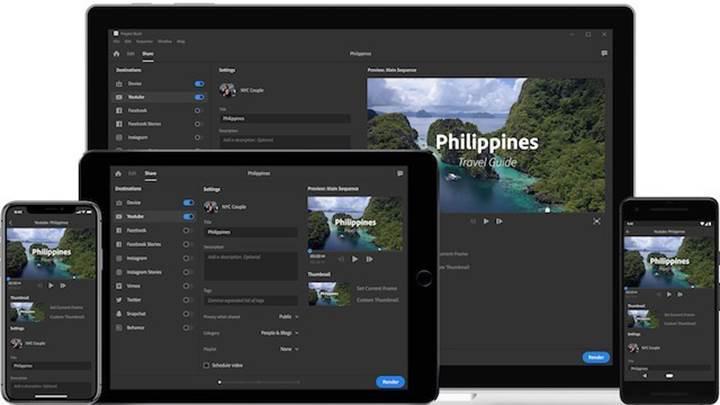 Samsung Galaxy S10 için özel bir Adobe Premiere Rush versiyonu hazırlandı