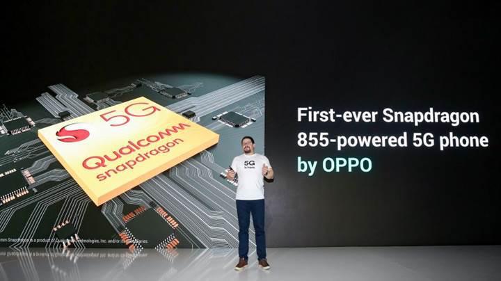 Oppo, Snapdragon 855 ile güçlendirilmiş ilk 5G'li telefonunu duyurdu