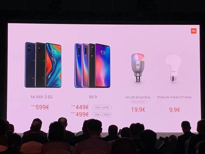 Xiaomi Mi Mix 3 5G Avrupa fiyatı belli oldu