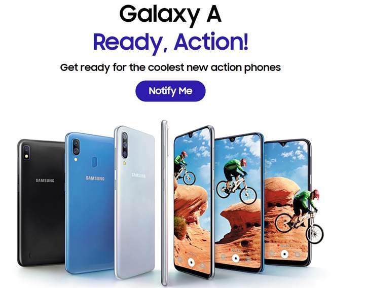 Galaxy A 2019 serisinin resmi sayfası açıldı