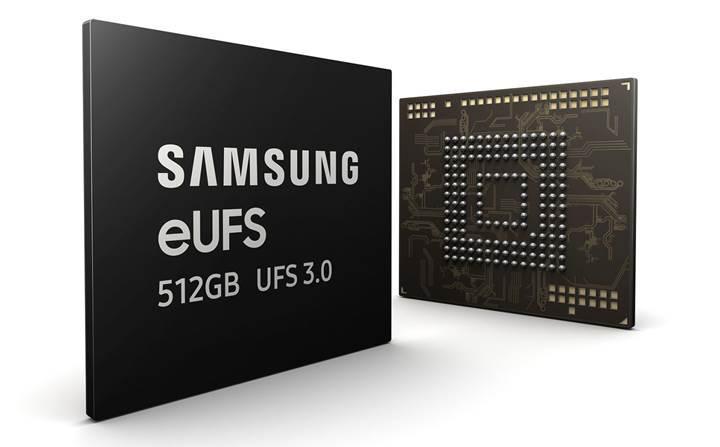 Samsung, 512GB kapasiteli UFS 3.0 bellek üretimine başlıyor