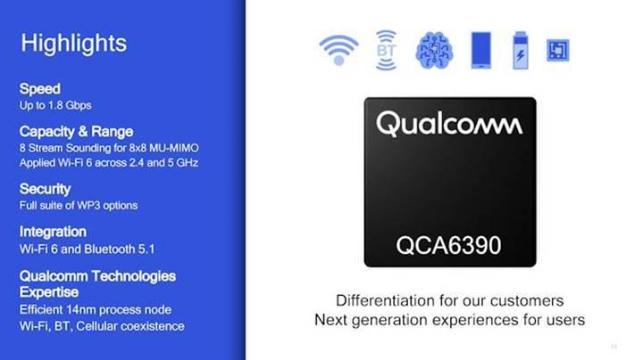 Qualcomm akıllı telefonlara WiFi 6 ve Bluetooth 5.1 yongasını sunuyor