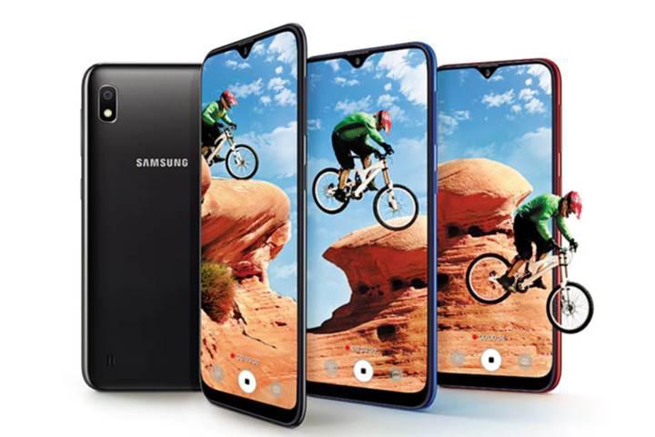 Giriş seviyesine Samsung Galaxy A10 takviyesi