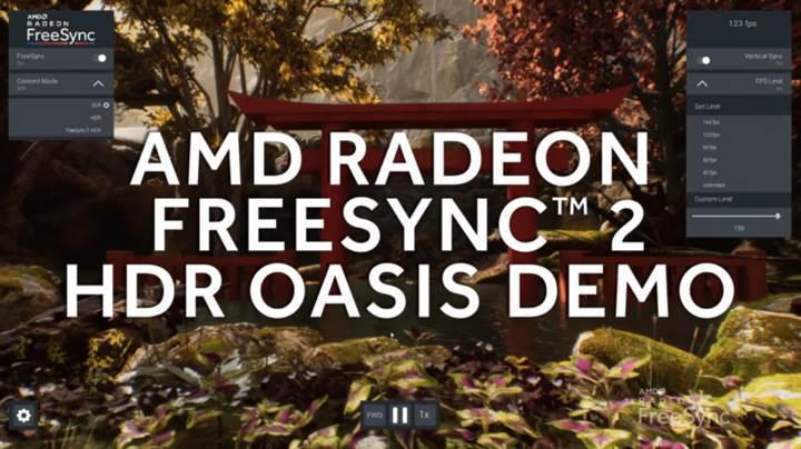 AMD FreeSync 2 için hazırladığı demo'sunu duyurdu