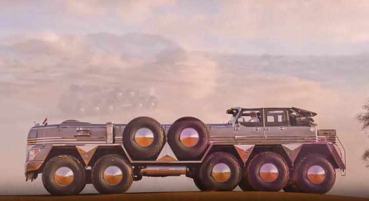 Multi milyarder Arap şeyhinin yeni oyuncağı: 10 tekerlekli Dhabiyan