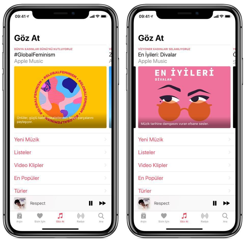 Kadınlar Günü için Apple Music özel sayfası yayında