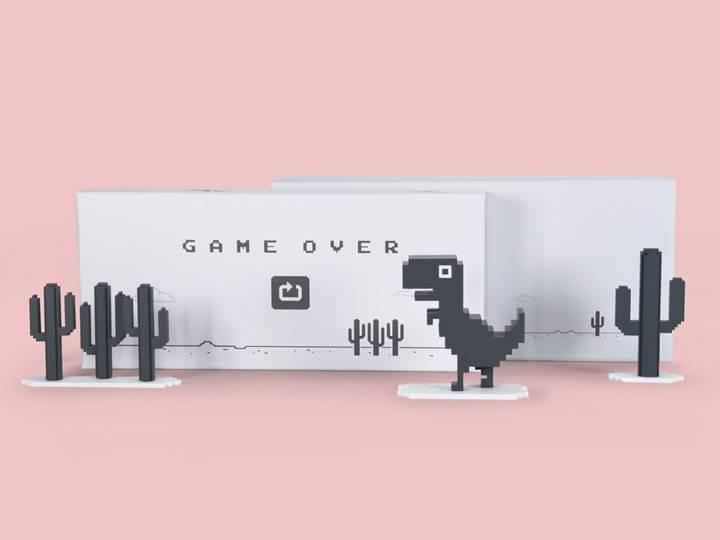 Google Chrome'un çevrimdışı dinozoru oyuncak oluyor