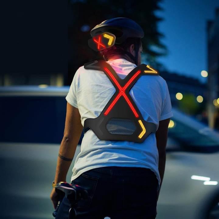 Bisikletçiler için giyilebilir aydınlatma sistemi