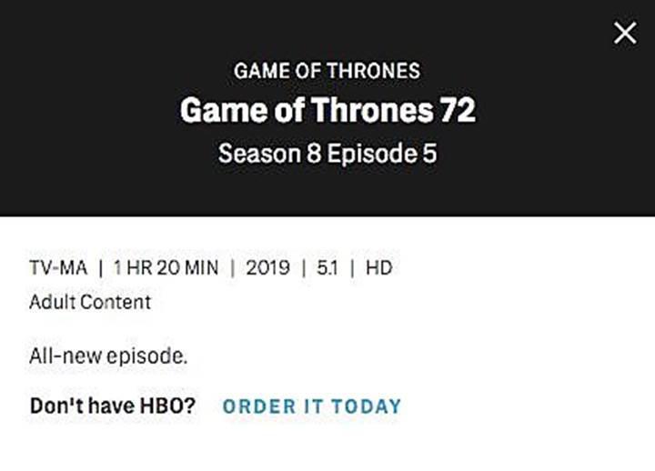 Game of Thrones 8. sezon tüm bölümlerin süreleri açıklandı