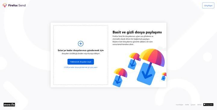 Mozilla, Firefox Send'i genişletilmiş özellikleriyle duyurdu