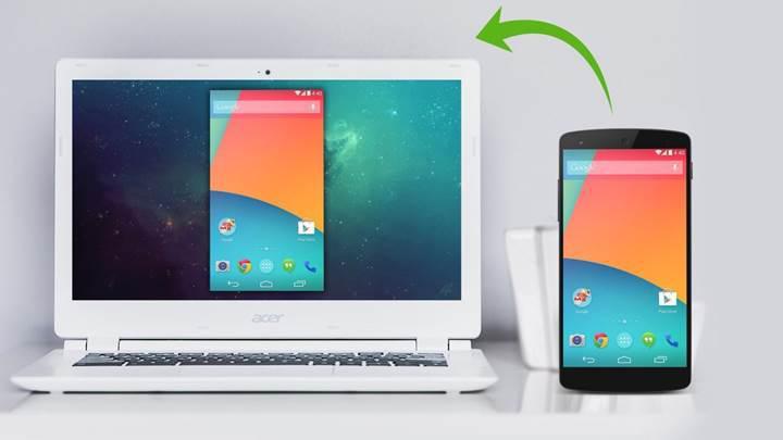 Android uygulama yansıtma Windows Insider programına geldi