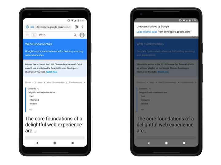 Chrome'un Android versiyonundaki veri tasarrufu modu artık HTTPS siteleri de hızlandırıyor