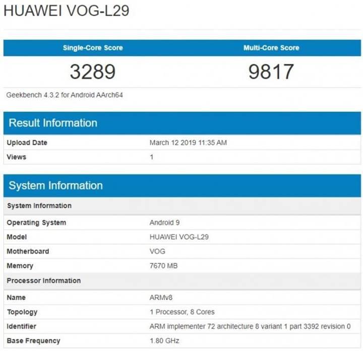 Huawei P30 Pro, Geekbench ve AnTuTu testi görüldü