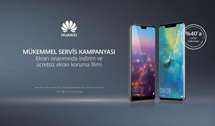 Huawei yüzde 40 indirimli ekran onarım kampanyası