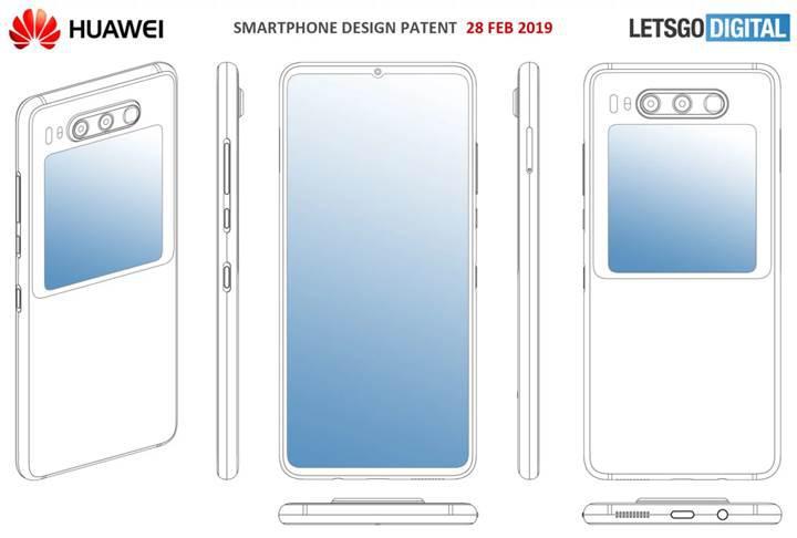 Huawei'den arkasında ekranı bulunan telefon