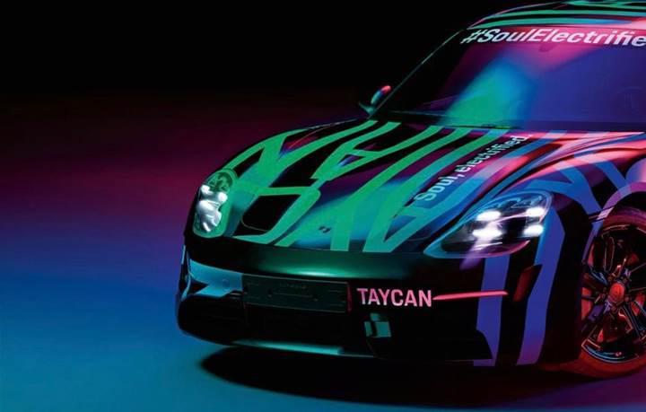 Porsche ilk elektrikli otomobili Taycan'ın teaser görsellerini yayınladı