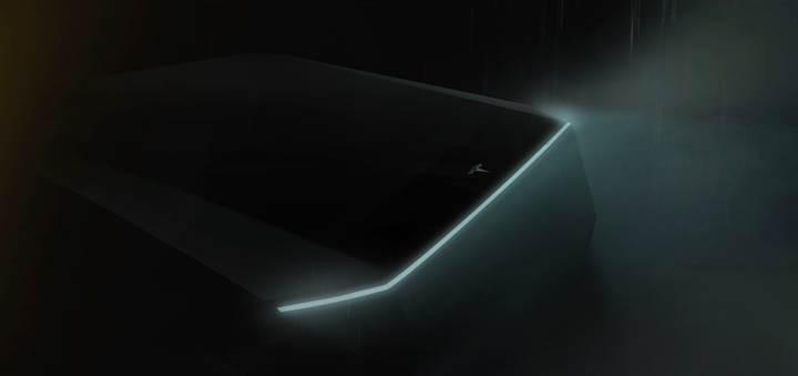 Tesla pick-up'ın ilk teaser görseli yayınlandı