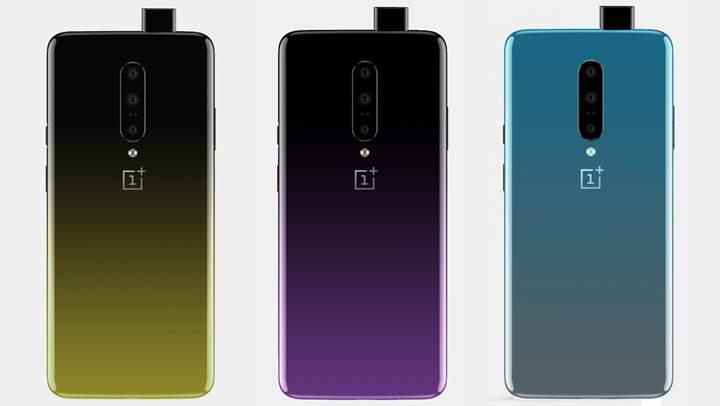 OnePlus 7'nin arka tasarımı ve degrade renk seçenekleri ortaya çıktı