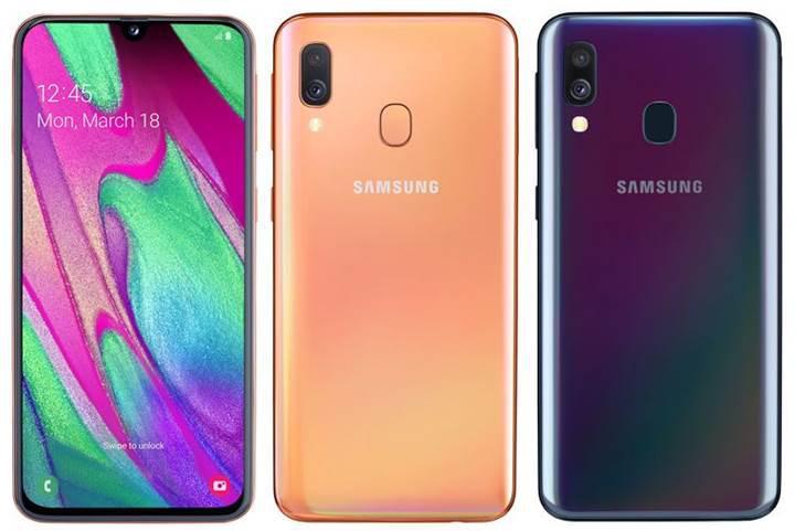 Samsung'un Infinity-U ekranlı yeni telefonu Galaxy A40 resmiyet kazandı