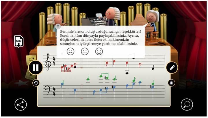 Yapay zeka destekli Google Doodle ile kendi melodinizi yapın