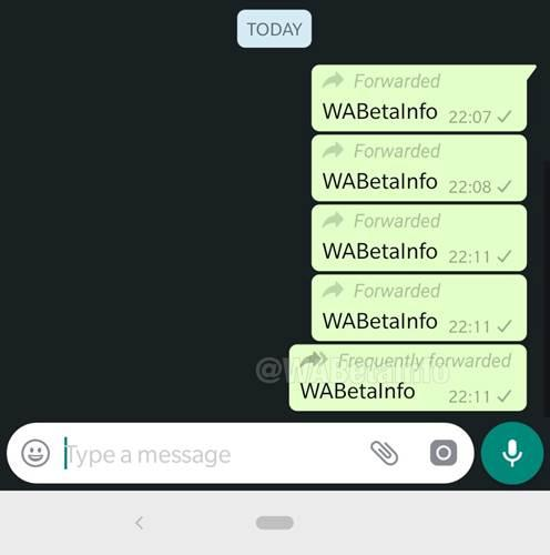 WhatsApp, gelen mesajın kaç kere iletildiğini gösterecek