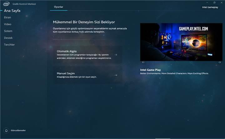 Intel'in yeni grafik ara yüzü indirmeye sunuldu