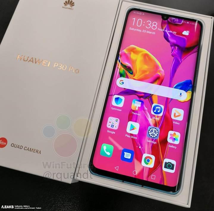 Huawei P30 Pro bu kez ürün kutusuyla birlikte ortaya çıktı