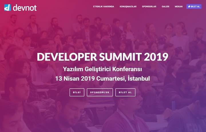 Developer Summit 2019, önümüzdeki ay İstanbul'da düzenlenecek