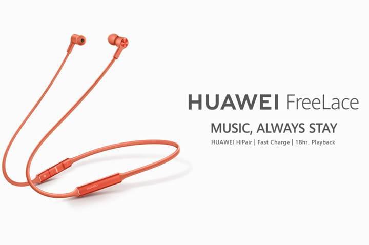 Huawei FreeLace kablosuz kulaklıklar fonksiyonel tasarımıyla dikkat çekiyor