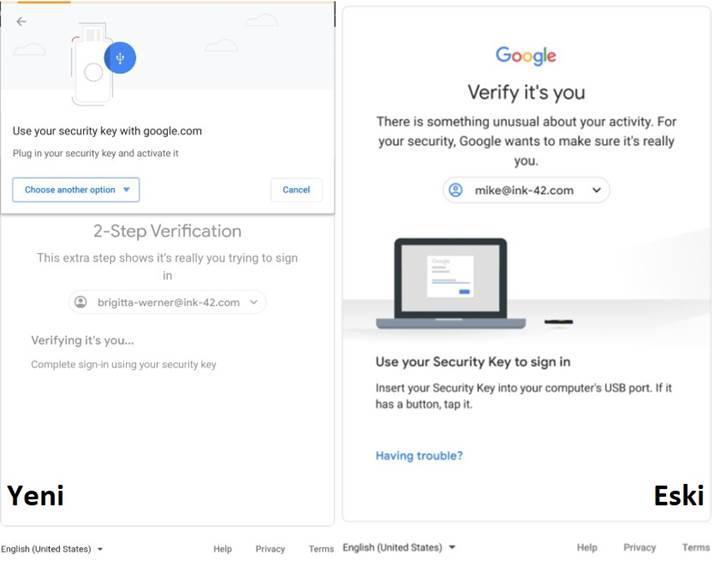 Google G Suite yeni iki adımlı doğrulama sistemi