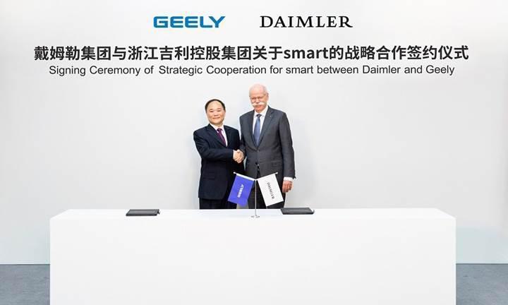 Çinli üretici Geely durdurulamıyor: Şimdi de Smart'ın yüzde 50'sini satın aldı