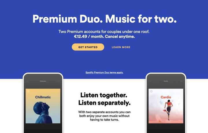 İki kişilik Spotify Premium Duo abonelik seçeneği testlere başladı