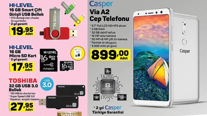 Haftaya A101 marketlerde uygun fiyata Casper Via A2 satılacak
