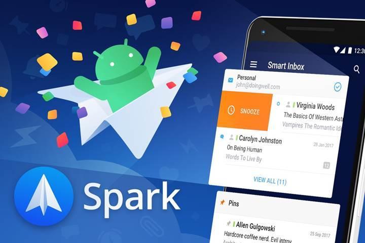 Android için Spark e-postalara ferahlık getiriyor