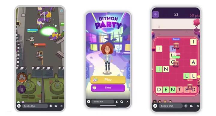 Snapchat mini oyunlar resmen başladı