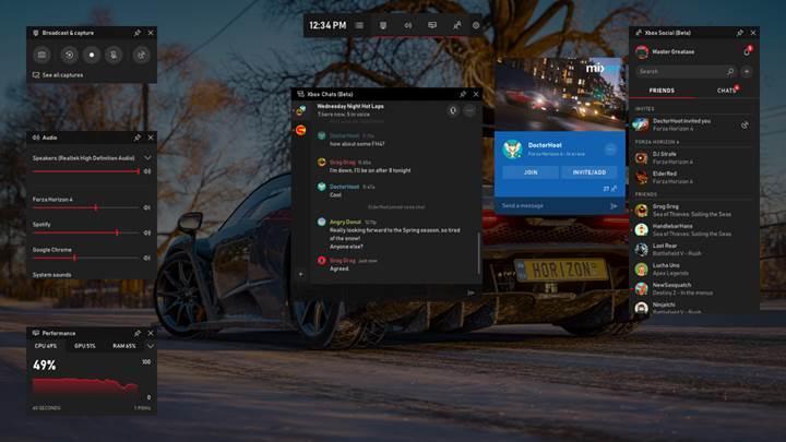 Windows 10 için Xbox Oyun Çubuğu, Spotify ve daha fazlasıyla artık çok daha işlevsel
